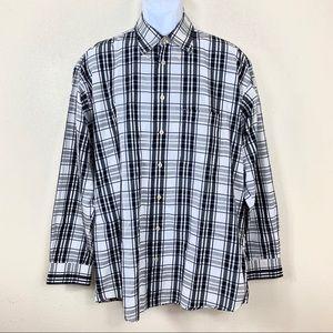 Burberry men's Shirt Plaid White black L